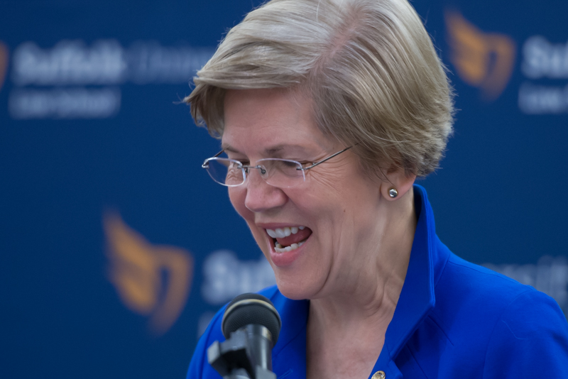 Senator Elizabeth Warren for Suffolk Law Alumni Magazine, April 2014